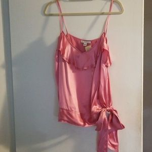 Pink Banana Republic silk top with bow